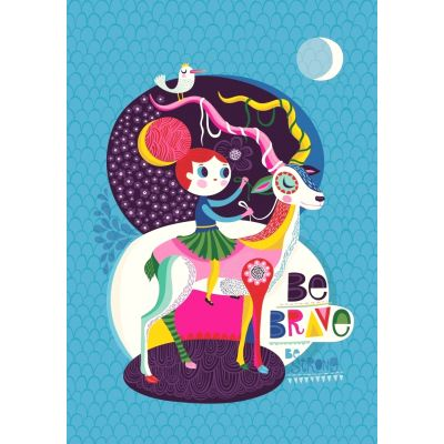 Petit Monkey poster be brave